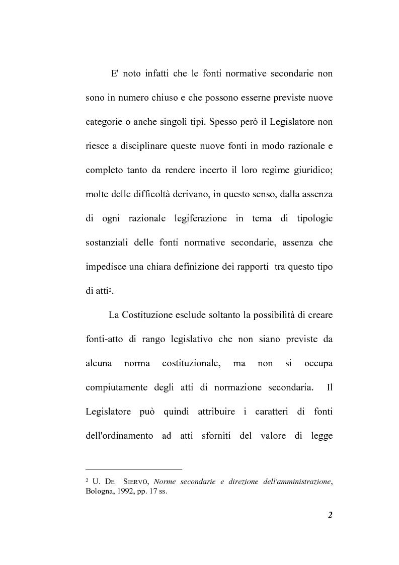 Anteprima della tesi: Il potere regolamentare delle autorità indipendenti, Pagina 2