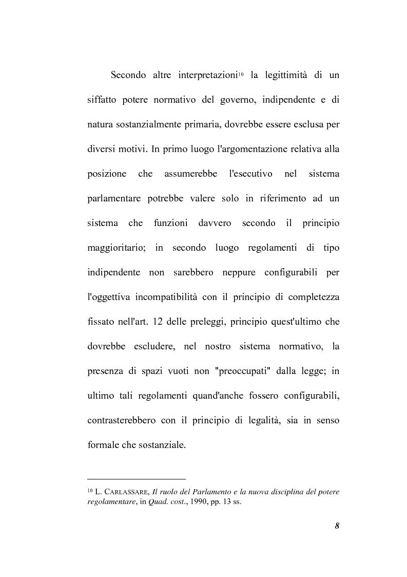 Anteprima della tesi: Il potere regolamentare delle autorità indipendenti, Pagina 8