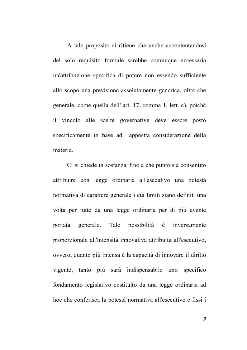 Anteprima della tesi: Il potere regolamentare delle autorità indipendenti, Pagina 9