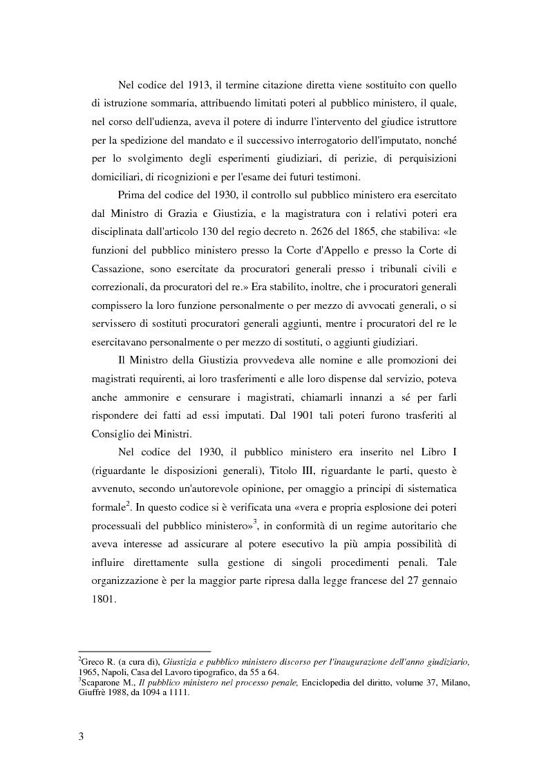 Anteprima della tesi: La posizione del pubblico ministero nell'ordinamento giuridico italiano. Profili costituzionali, Pagina 2