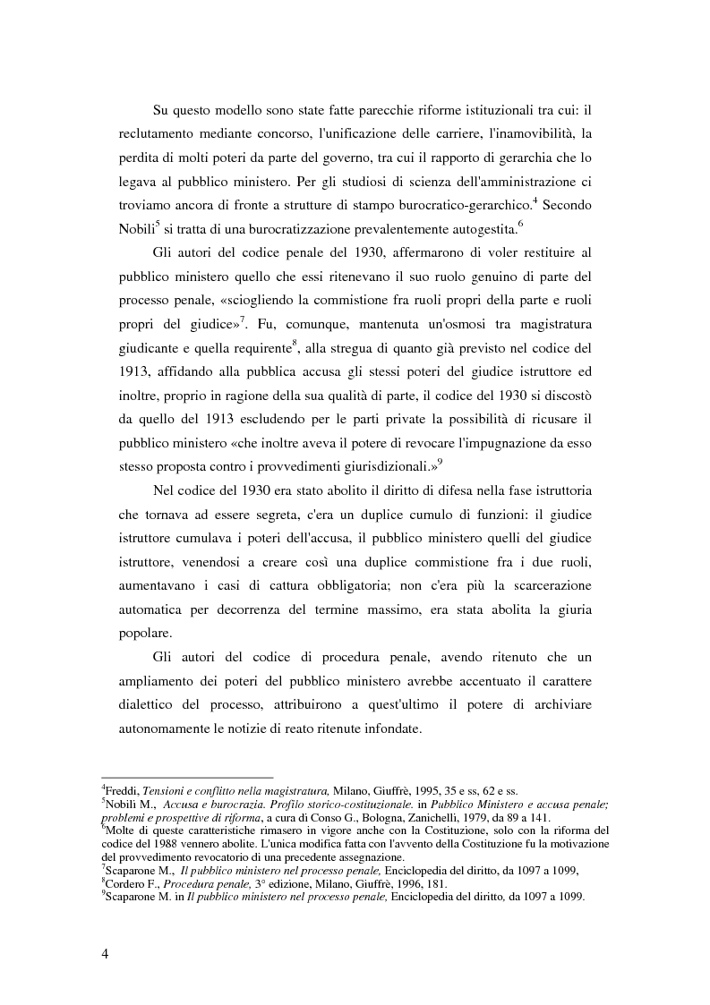 Anteprima della tesi: La posizione del pubblico ministero nell'ordinamento giuridico italiano. Profili costituzionali, Pagina 3