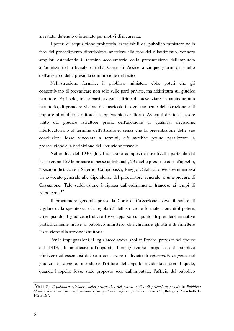 Anteprima della tesi: La posizione del pubblico ministero nell'ordinamento giuridico italiano. Profili costituzionali, Pagina 5