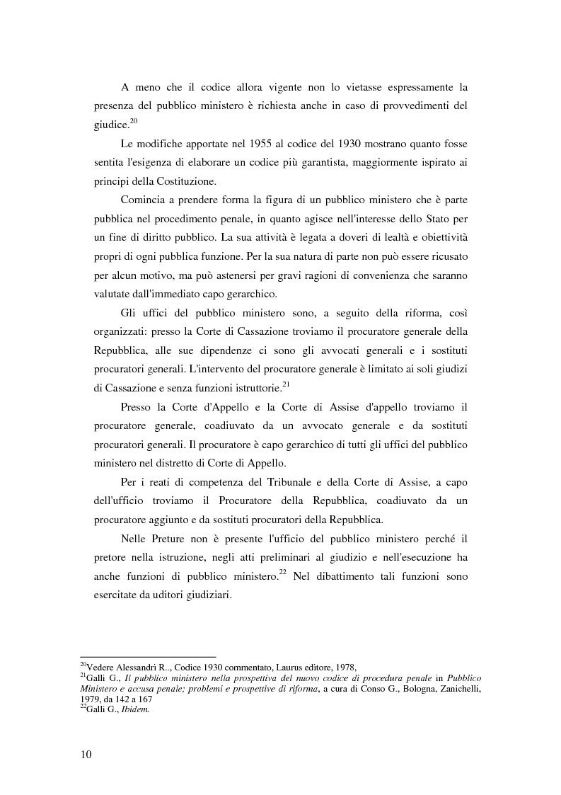 Anteprima della tesi: La posizione del pubblico ministero nell'ordinamento giuridico italiano. Profili costituzionali, Pagina 9