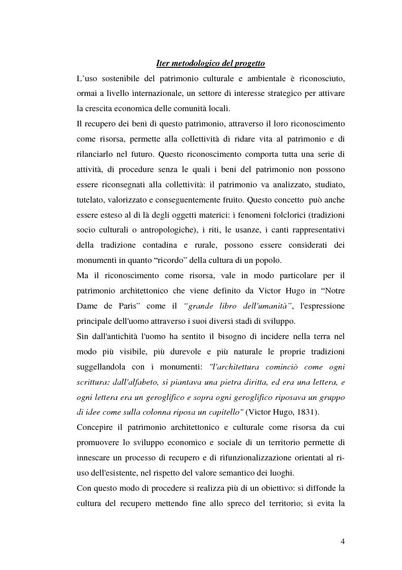 Anteprima della tesi: Progetto di valorizzazione di un centro storico: il caso Pentidattilo, Pagina 2