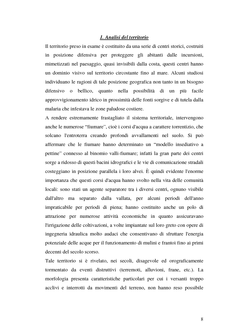 Anteprima della tesi: Progetto di valorizzazione di un centro storico: il caso Pentidattilo, Pagina 6