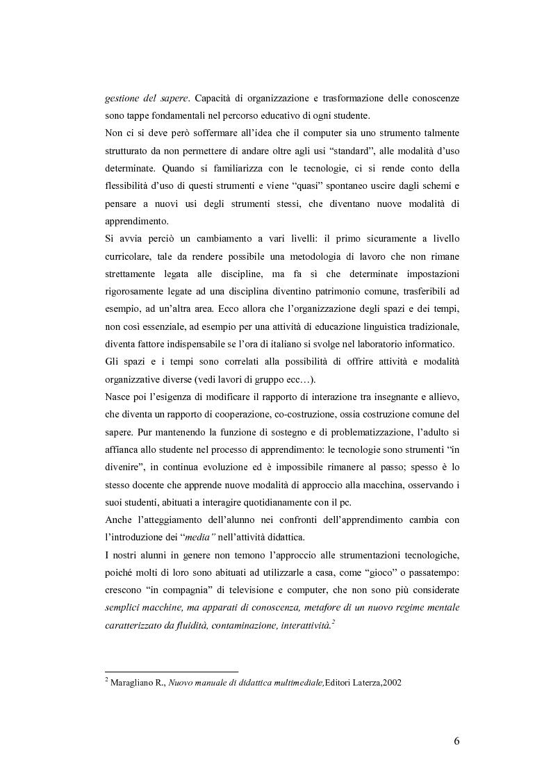 Anteprima della tesi: La videoscrittura: riflessione sulla lingua e produzione del testo., Pagina 2