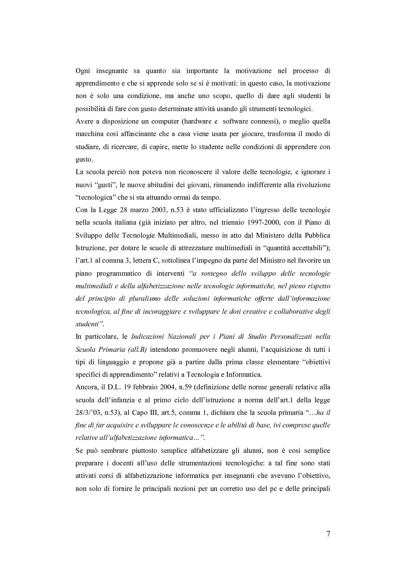 Anteprima della tesi: La videoscrittura: riflessione sulla lingua e produzione del testo., Pagina 3