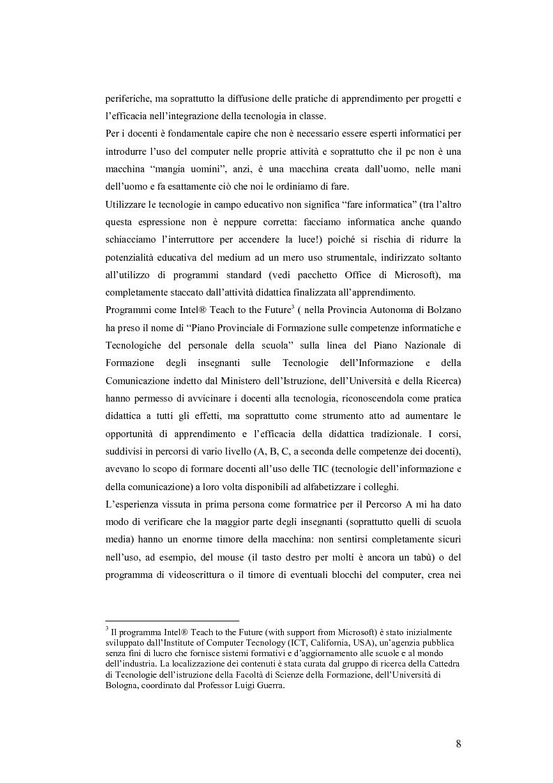 Anteprima della tesi: La videoscrittura: riflessione sulla lingua e produzione del testo., Pagina 4