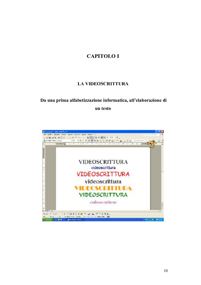 Anteprima della tesi: La videoscrittura: riflessione sulla lingua e produzione del testo., Pagina 6