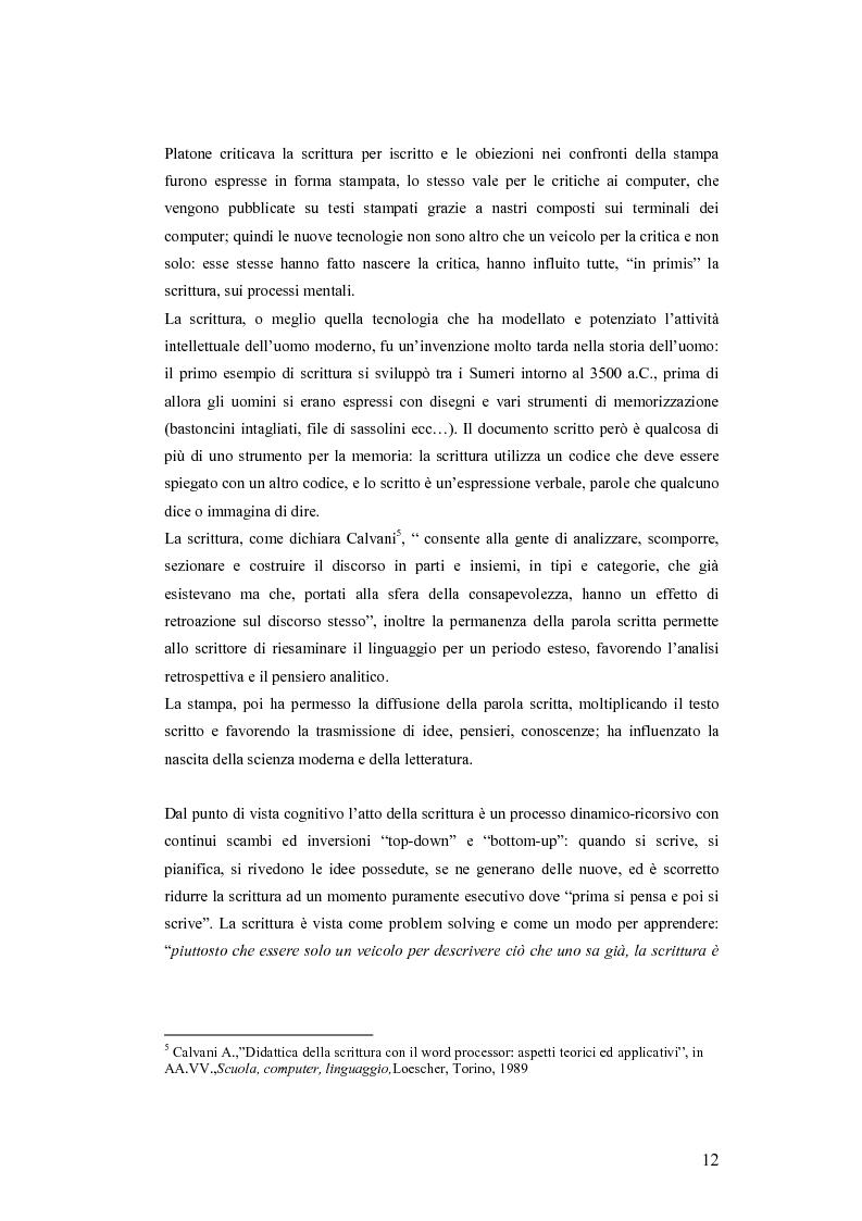 Anteprima della tesi: La videoscrittura: riflessione sulla lingua e produzione del testo., Pagina 8