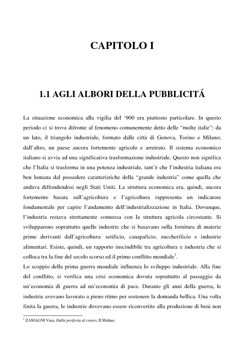 Anteprima della tesi: Cosa bolle in pentola? Il caso Barilla: 125 anni di comunicazione sempre al dente., Pagina 1