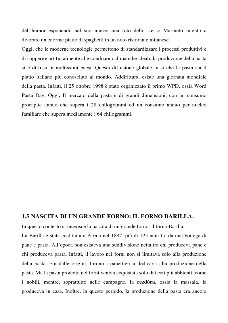 Anteprima della tesi: Cosa bolle in pentola? Il caso Barilla: 125 anni di comunicazione sempre al dente., Pagina 10