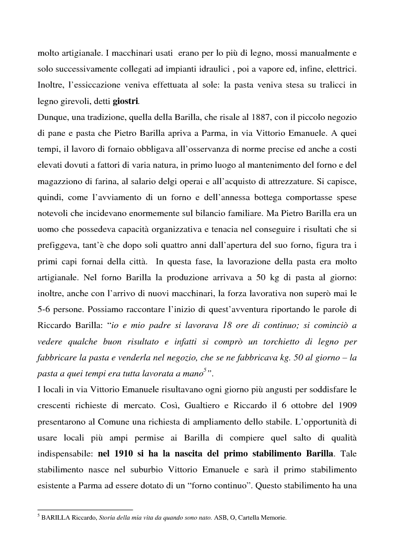 Anteprima della tesi: Cosa bolle in pentola? Il caso Barilla: 125 anni di comunicazione sempre al dente., Pagina 11