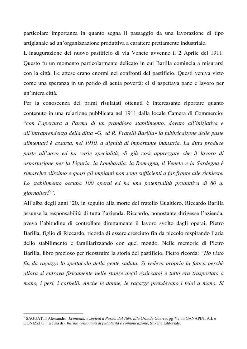 Anteprima della tesi: Cosa bolle in pentola? Il caso Barilla: 125 anni di comunicazione sempre al dente., Pagina 12