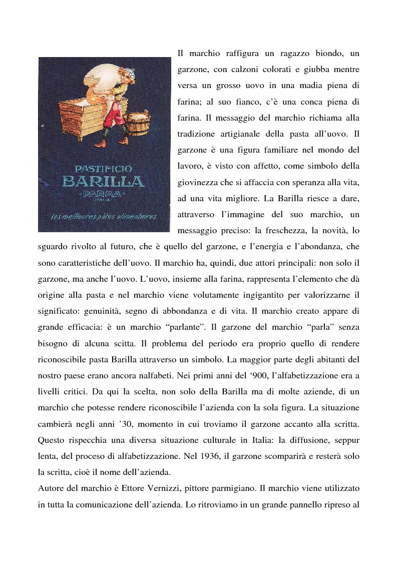 Anteprima della tesi: Cosa bolle in pentola? Il caso Barilla: 125 anni di comunicazione sempre al dente., Pagina 14