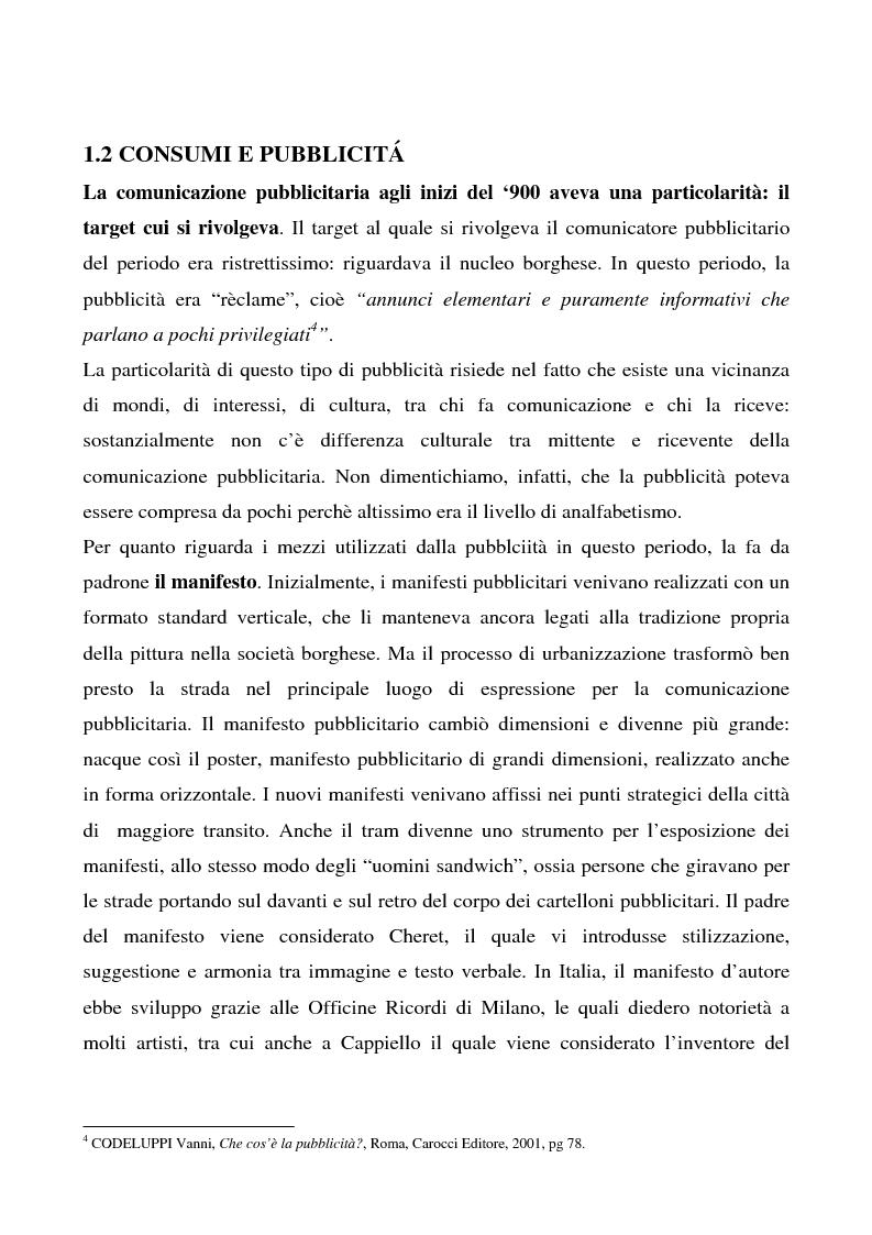 Anteprima della tesi: Cosa bolle in pentola? Il caso Barilla: 125 anni di comunicazione sempre al dente., Pagina 3