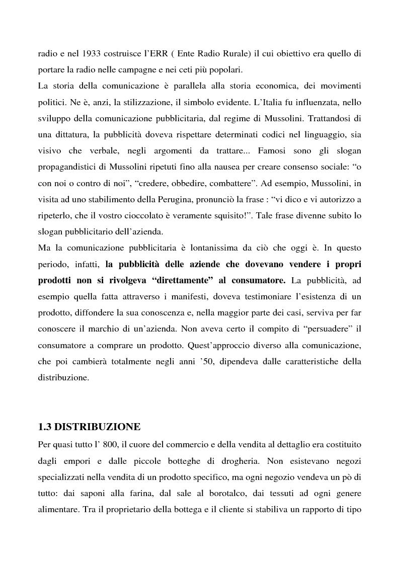 Anteprima della tesi: Cosa bolle in pentola? Il caso Barilla: 125 anni di comunicazione sempre al dente., Pagina 5