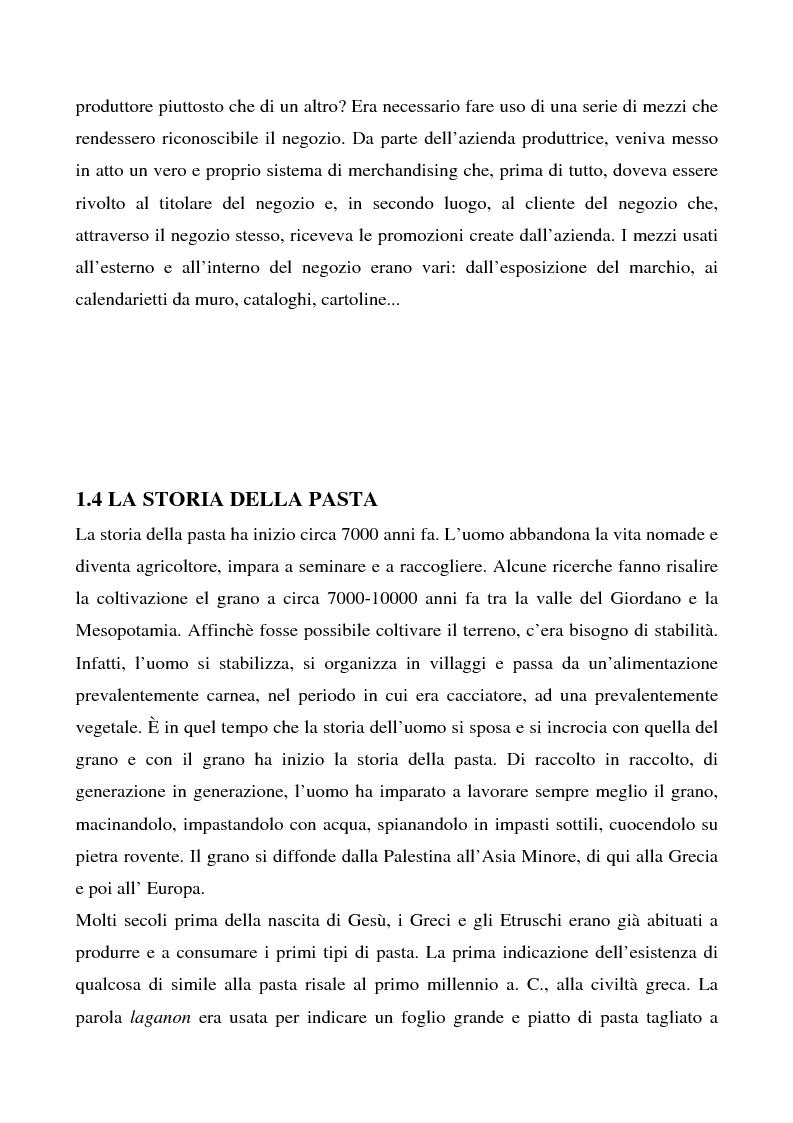 Anteprima della tesi: Cosa bolle in pentola? Il caso Barilla: 125 anni di comunicazione sempre al dente., Pagina 7
