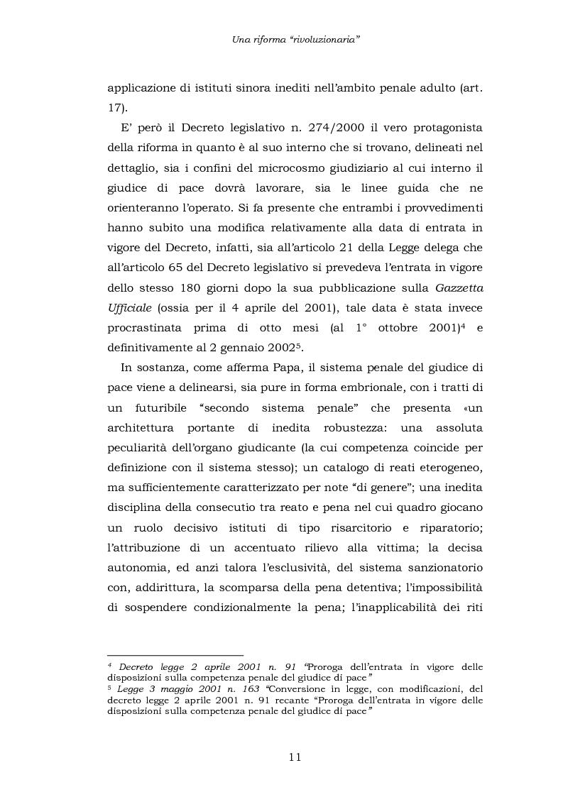 Anteprima della tesi: Le funzioni penali del Giudice di Pace. Un'indagine esplorativa nel distretto di Oristano, Pagina 11