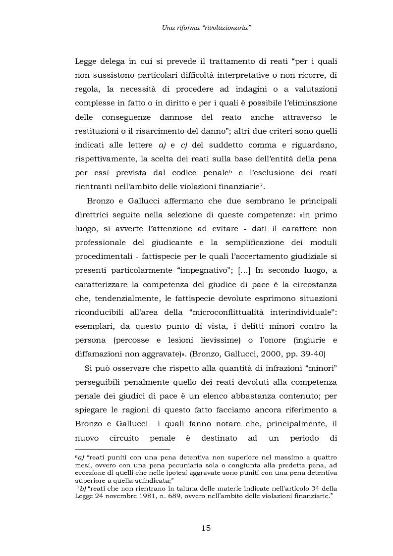 Anteprima della tesi: Le funzioni penali del Giudice di Pace. Un'indagine esplorativa nel distretto di Oristano, Pagina 15
