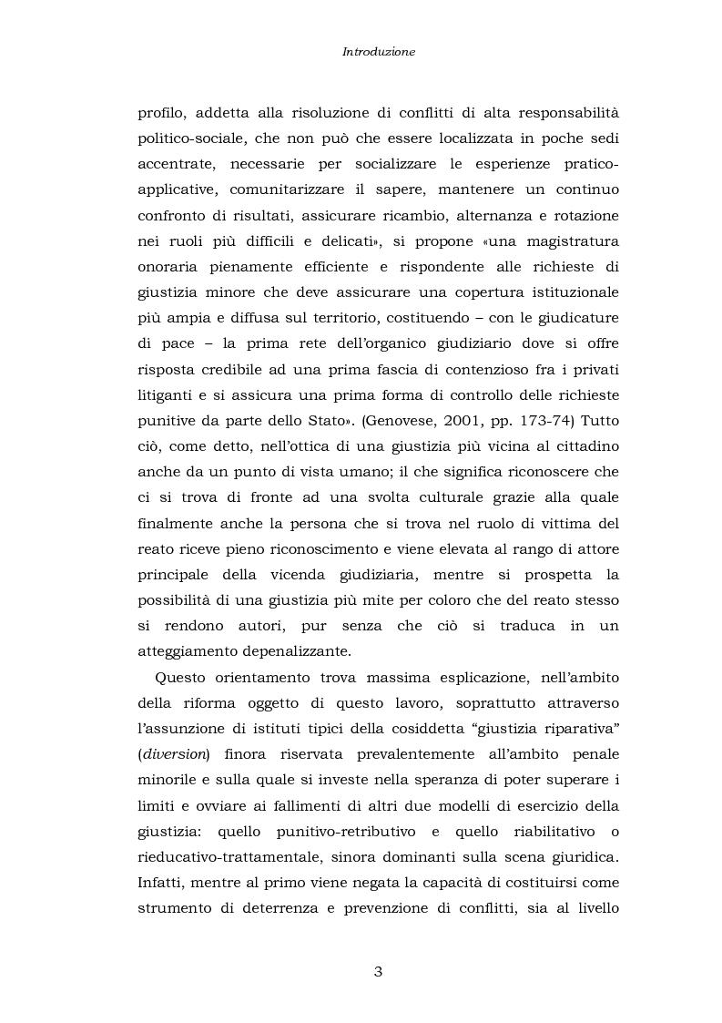 Anteprima della tesi: Le funzioni penali del Giudice di Pace. Un'indagine esplorativa nel distretto di Oristano, Pagina 3