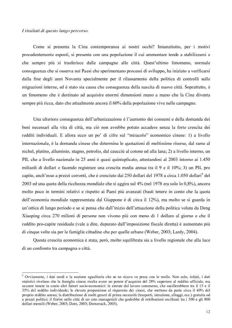 Anteprima della tesi: La Cina tra globalizzazione e democratizzazione, Pagina 10