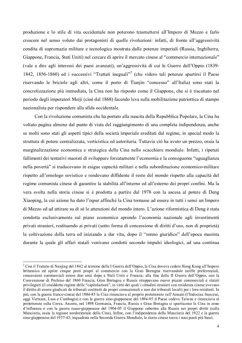 Anteprima della tesi: La Cina tra globalizzazione e democratizzazione, Pagina 2