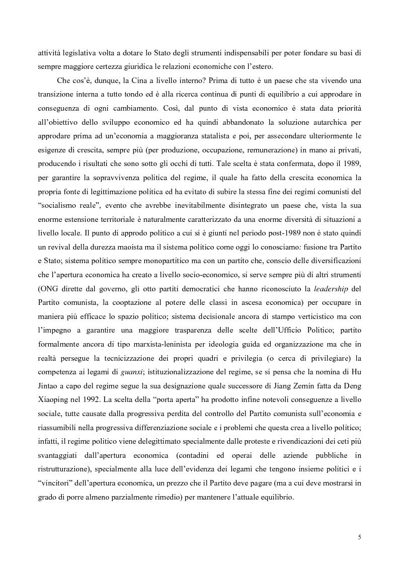 Anteprima della tesi: La Cina tra globalizzazione e democratizzazione, Pagina 3