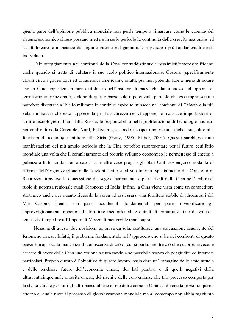 Anteprima della tesi: La Cina tra globalizzazione e democratizzazione, Pagina 6