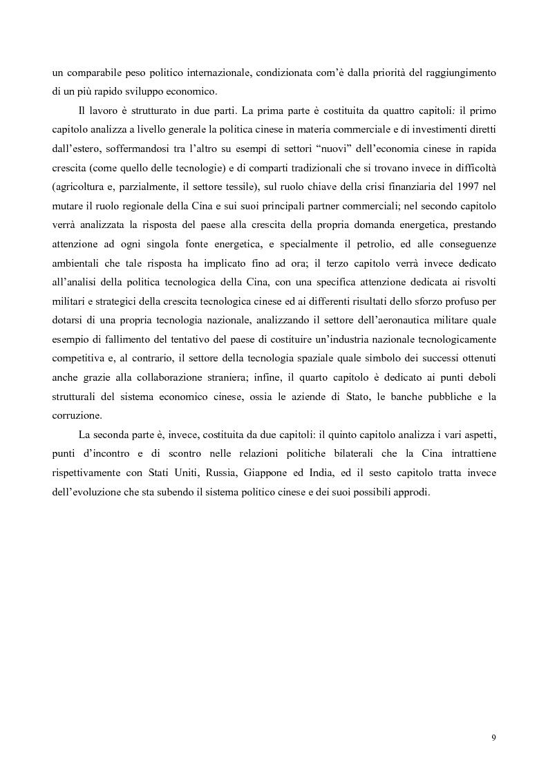 Anteprima della tesi: La Cina tra globalizzazione e democratizzazione, Pagina 7