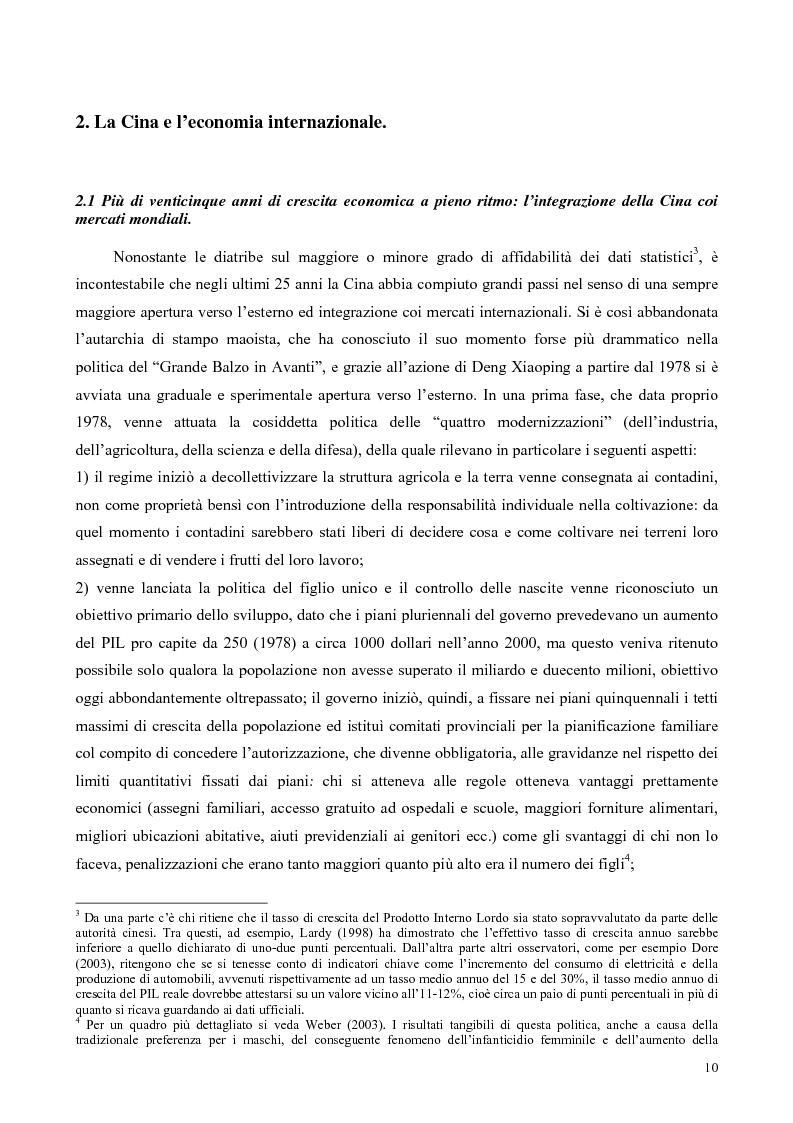 Anteprima della tesi: La Cina tra globalizzazione e democratizzazione, Pagina 8