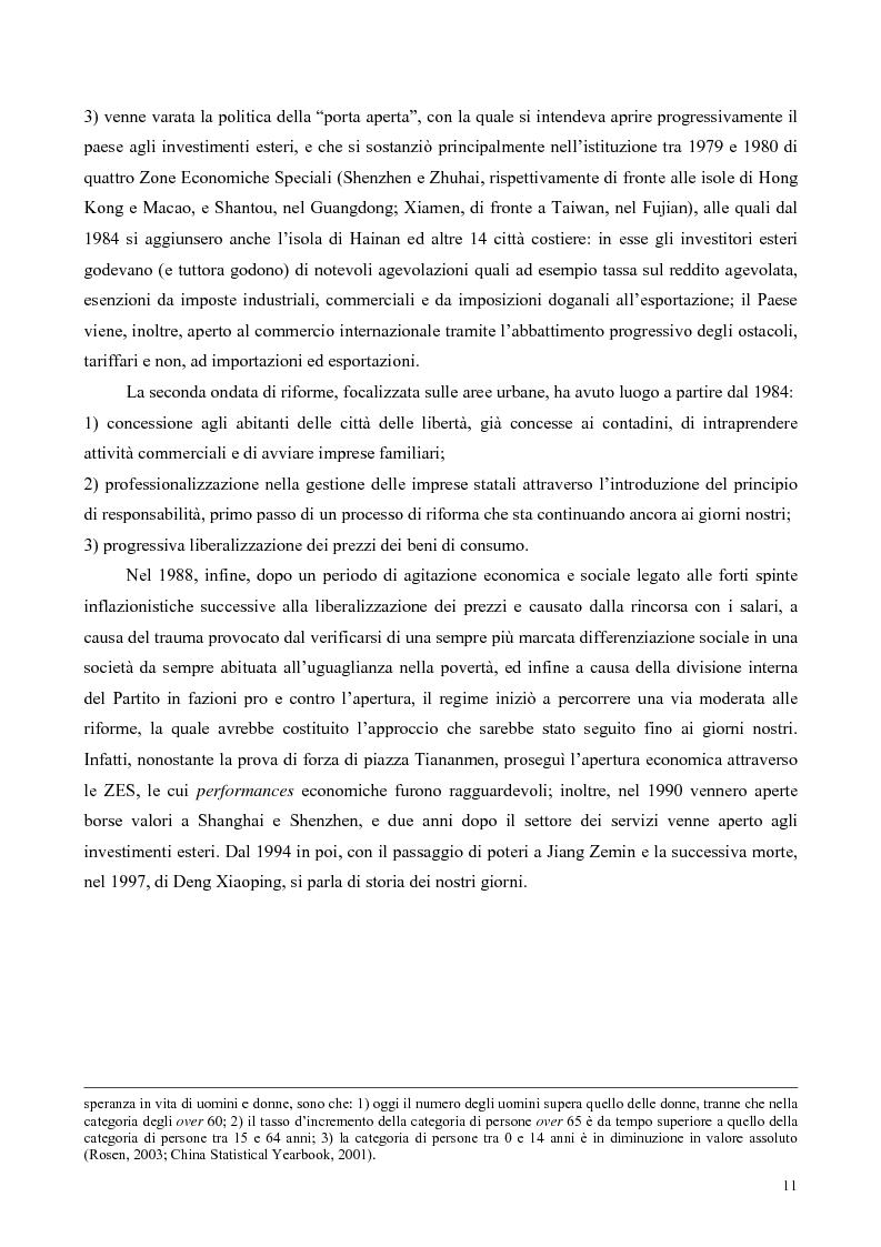 Anteprima della tesi: La Cina tra globalizzazione e democratizzazione, Pagina 9