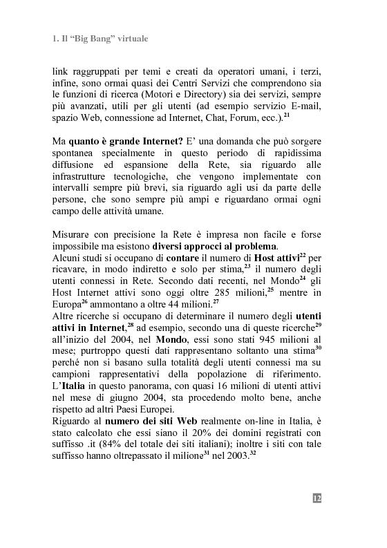 Anteprima della tesi: I Portali Web. Viaggio nella Rete A/R., Pagina 10