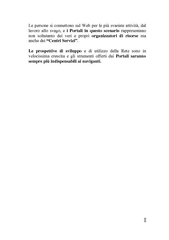 Anteprima della tesi: I Portali Web. Viaggio nella Rete A/R., Pagina 2