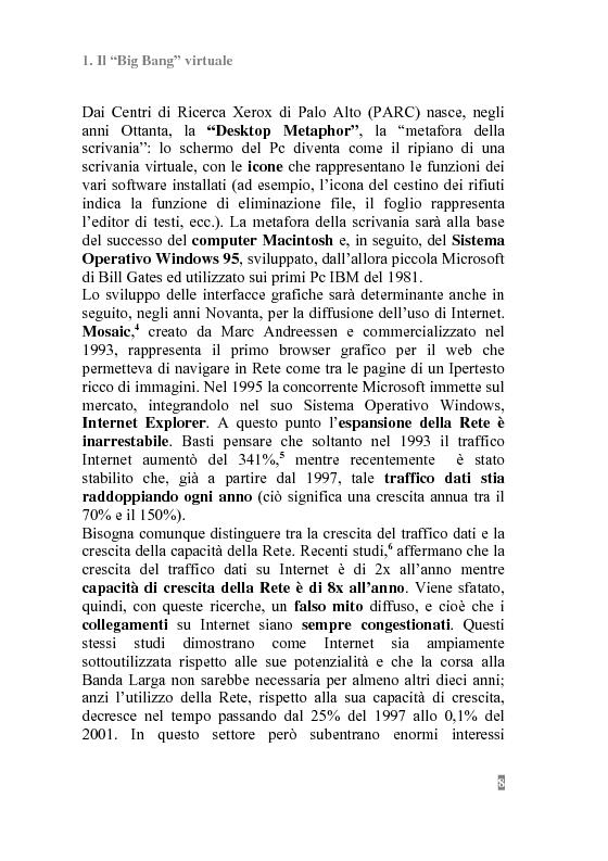 Anteprima della tesi: I Portali Web. Viaggio nella Rete A/R., Pagina 6