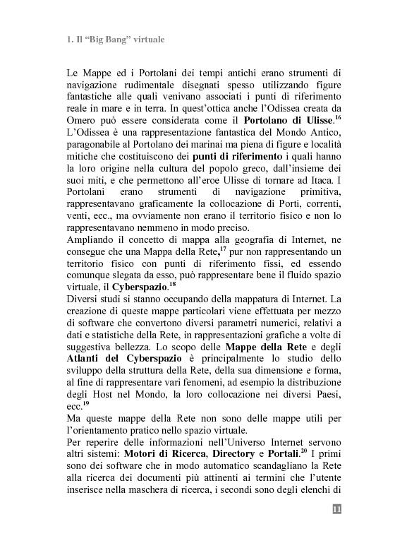 Anteprima della tesi: I Portali Web. Viaggio nella Rete A/R., Pagina 9