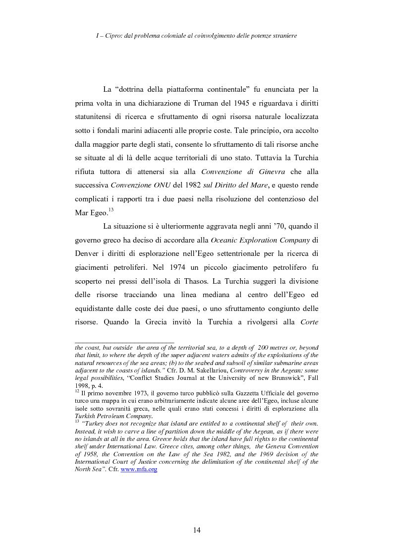 Anteprima della tesi: Cipro: oltre la mediazione. Un trentennio di fallimenti e la speranza di un compromesso europeo, Pagina 14