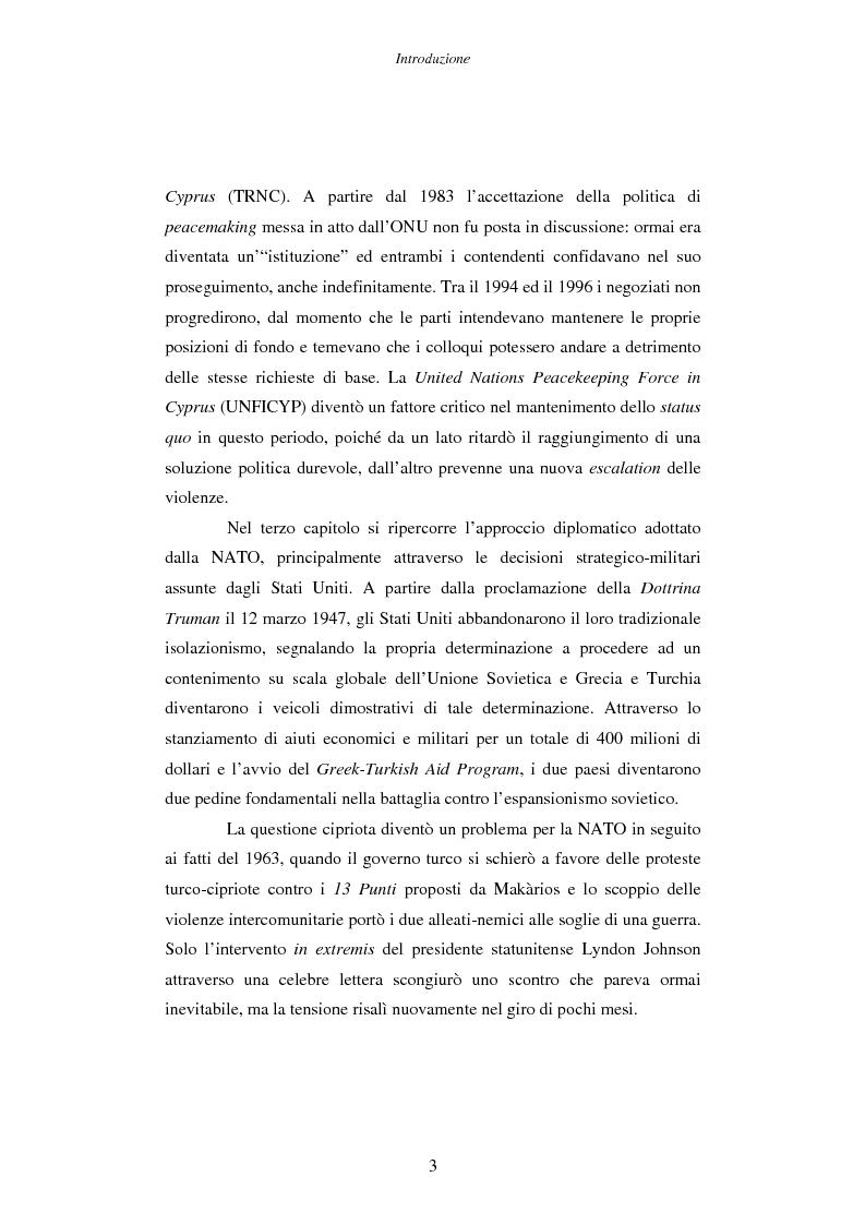 Anteprima della tesi: Cipro: oltre la mediazione. Un trentennio di fallimenti e la speranza di un compromesso europeo, Pagina 3
