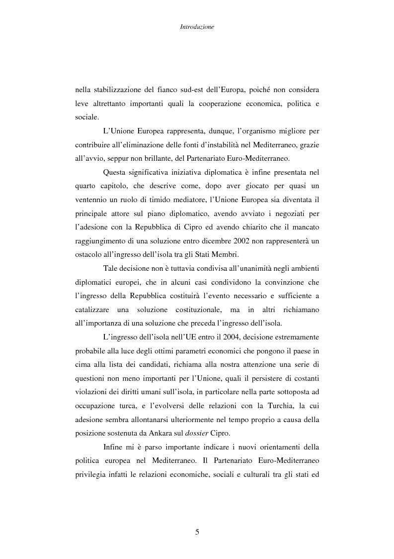 Anteprima della tesi: Cipro: oltre la mediazione. Un trentennio di fallimenti e la speranza di un compromesso europeo, Pagina 5