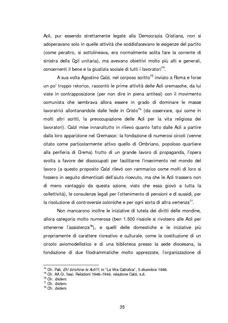 Anteprima della tesi: Le Acli di Cremona e della sua provincia nel secondo dopoguerra, Pagina 14