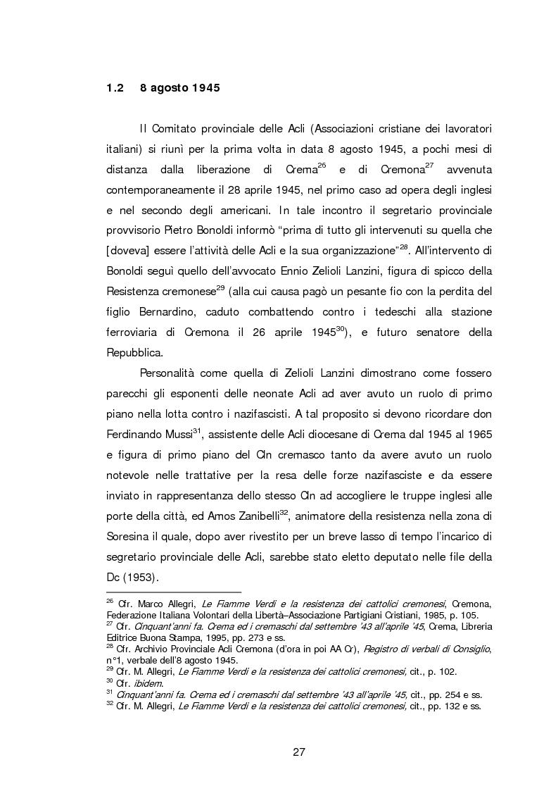 Anteprima della tesi: Le Acli di Cremona e della sua provincia nel secondo dopoguerra, Pagina 6