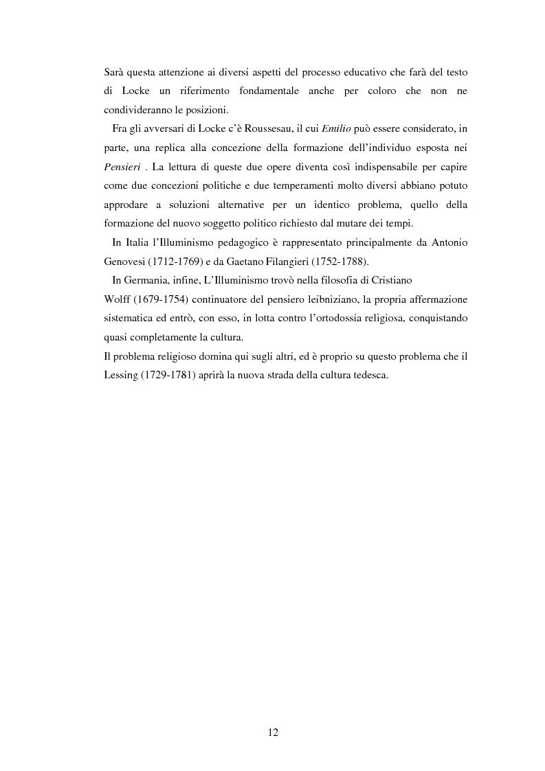 Anteprima della tesi: L'educazione naturale di Rousseau, Pagina 10
