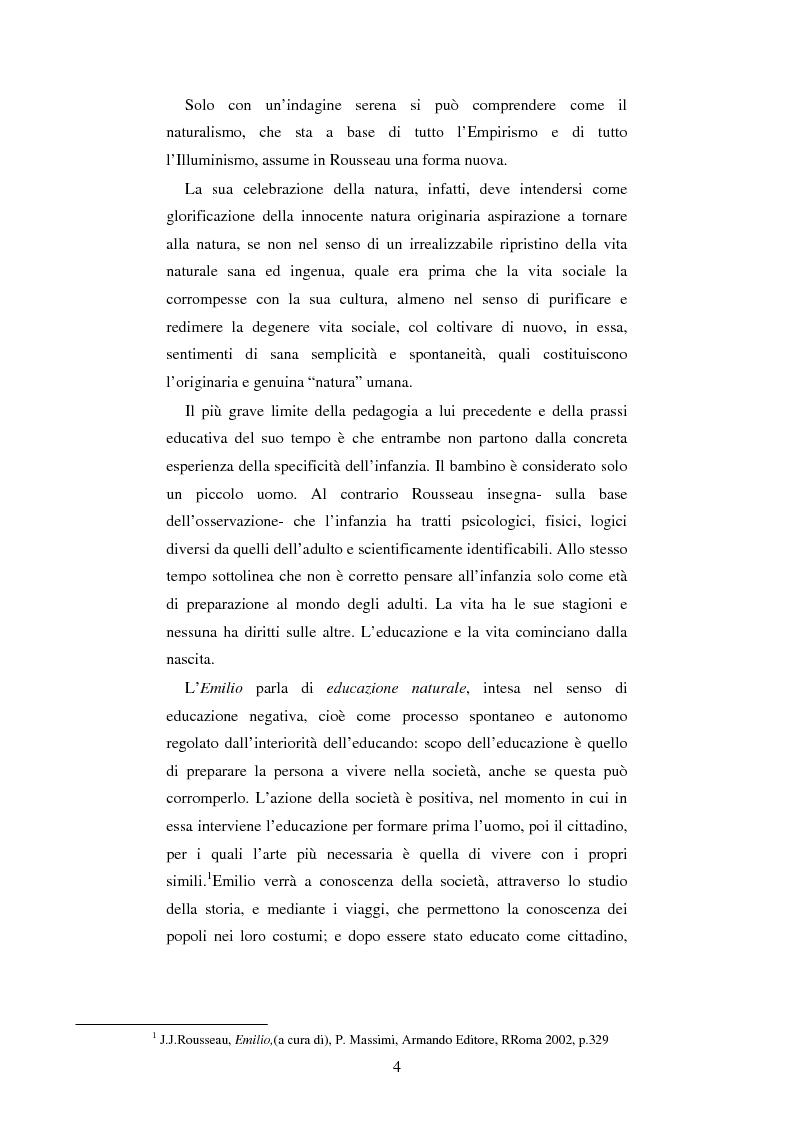 Anteprima della tesi: L'educazione naturale di Rousseau, Pagina 2
