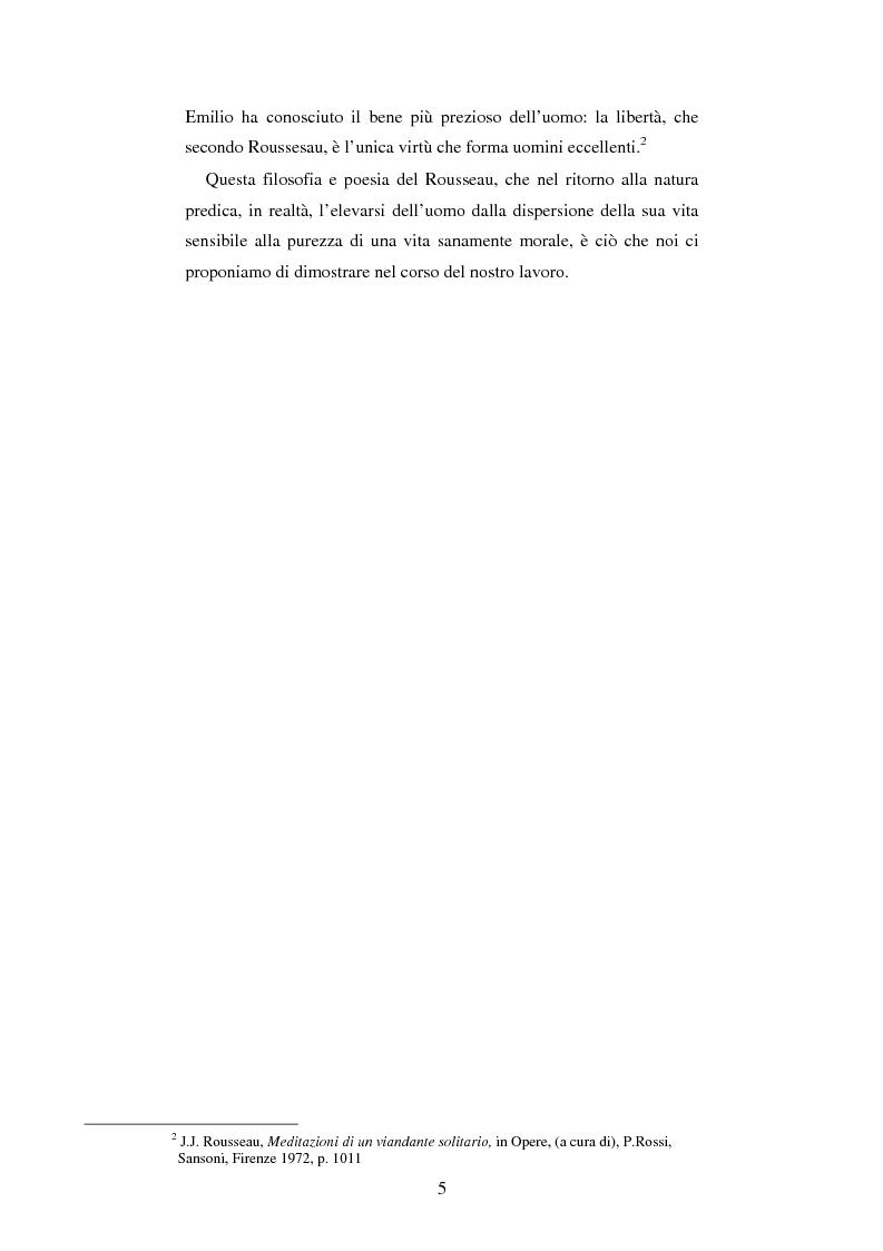 Anteprima della tesi: L'educazione naturale di Rousseau, Pagina 3