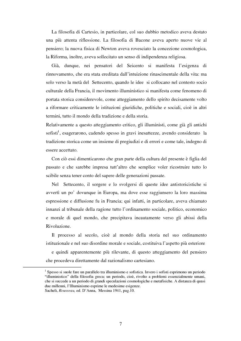 Anteprima della tesi: L'educazione naturale di Rousseau, Pagina 5