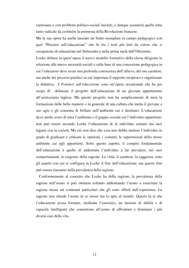 Anteprima della tesi: L'educazione naturale di Rousseau, Pagina 9