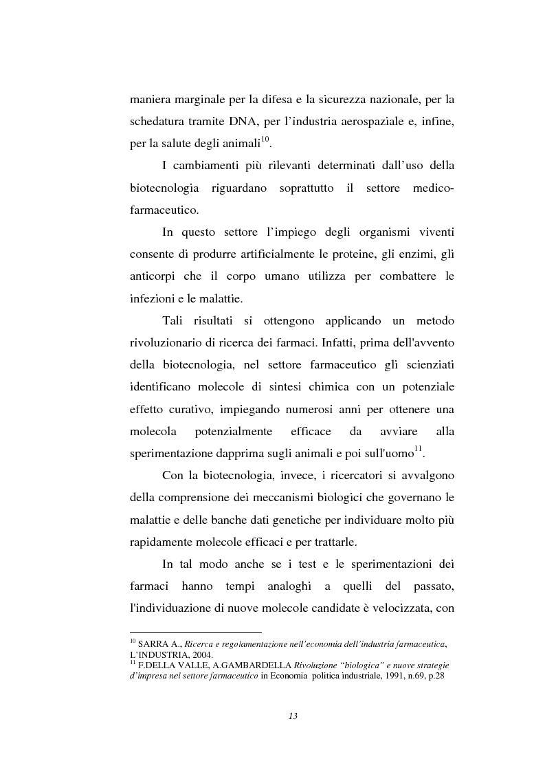 Anteprima della tesi: Le attività di ricerca e sviluppo nel settore delle biotecnologie, Pagina 10