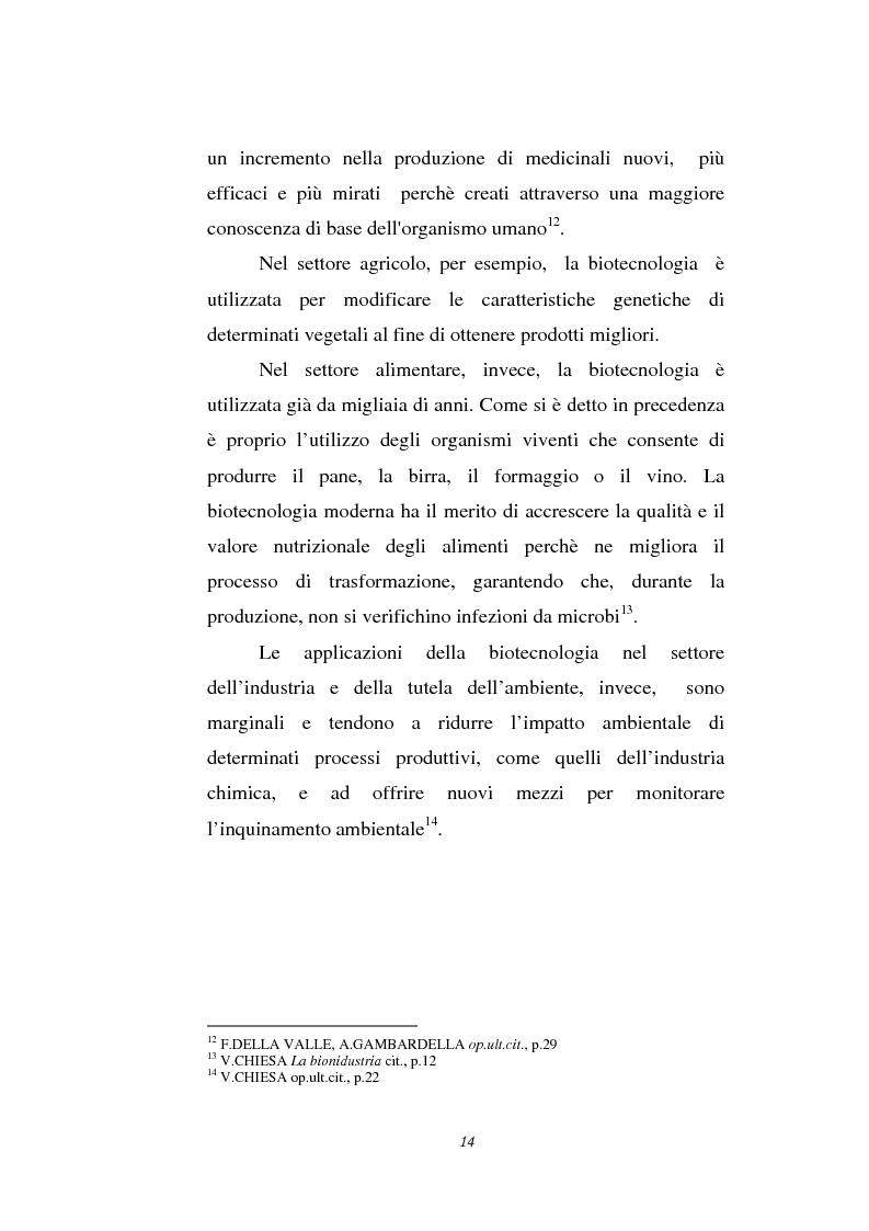 Anteprima della tesi: Le attività di ricerca e sviluppo nel settore delle biotecnologie, Pagina 11
