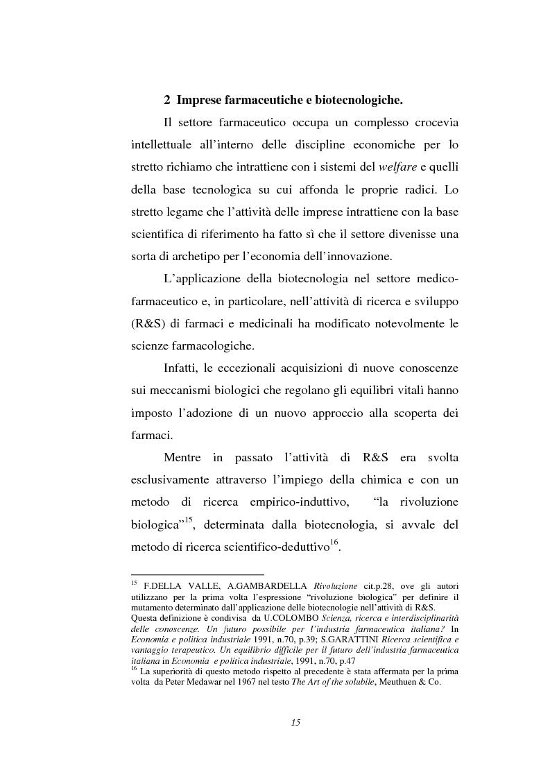 Anteprima della tesi: Le attività di ricerca e sviluppo nel settore delle biotecnologie, Pagina 12