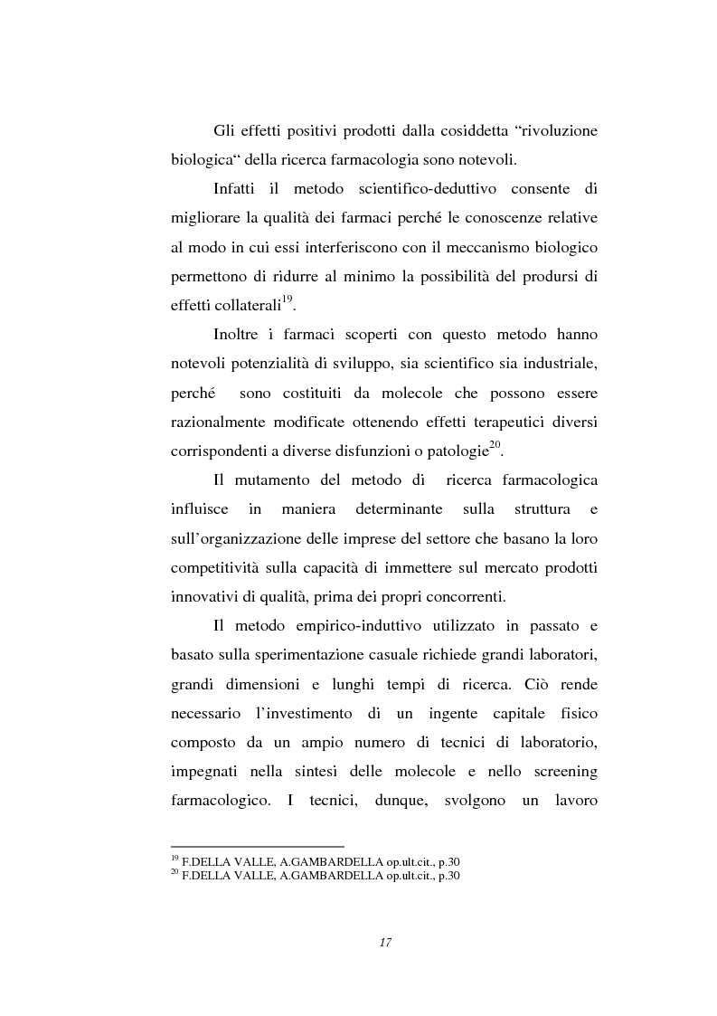 Anteprima della tesi: Le attività di ricerca e sviluppo nel settore delle biotecnologie, Pagina 14